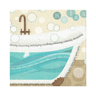 A Relaxing Bath Canvas Print
