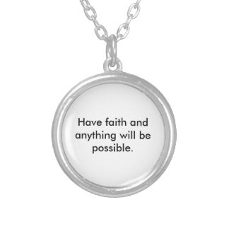 A Reminder of Faith Silver Plated Necklace