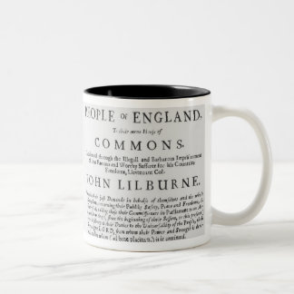A remonstrance by the Levellers Two-Tone Coffee Mug