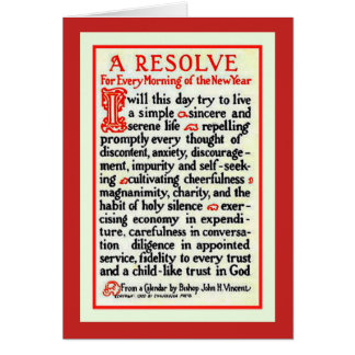 A RESOLVE PRAYER FOR EVERY MORNING IN THE NEW YEAR CARD