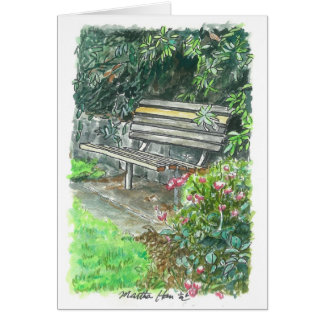 A resting bench card