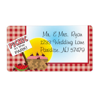 A Reunion | Picnic in the Park | Any Occasion Shipping Label