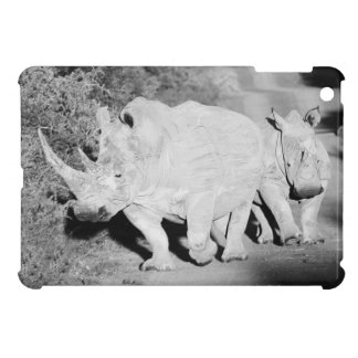 A Rhino mother and her calf in South Africa Cover For The iPad Mini