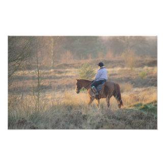 A Ride Before Sundown Photo Print