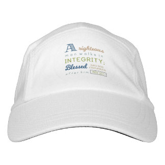 A Righteous Man Walks in Integrity, Scripture Hat