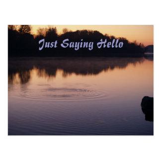 A Ripple of Saying Hello Postcard
