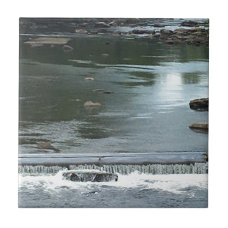 A River flowing Small Square Tile