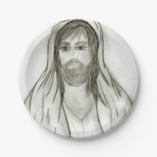 A Robed Jesus Paper Plate