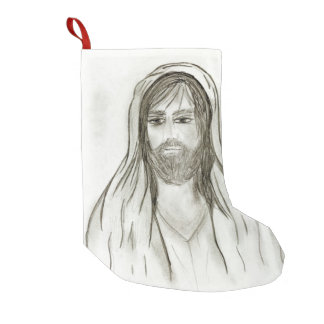 A Robed Jesus Small Christmas Stocking