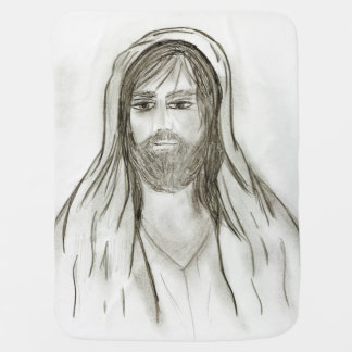A Robed Jesus Swaddle Blankets