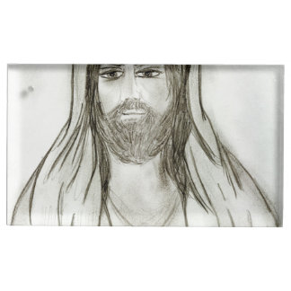 A Robed Jesus Table Card Holder