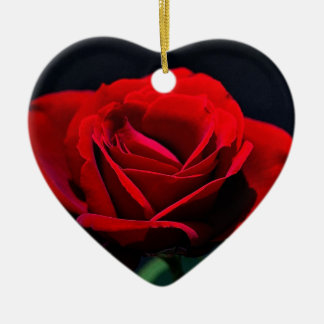A romantic red rose ornament