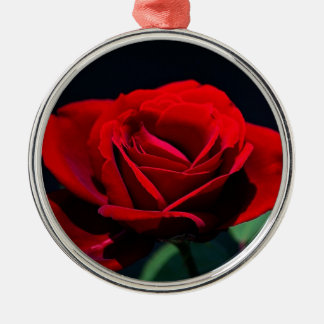 A romantic red rose christmas tree ornaments