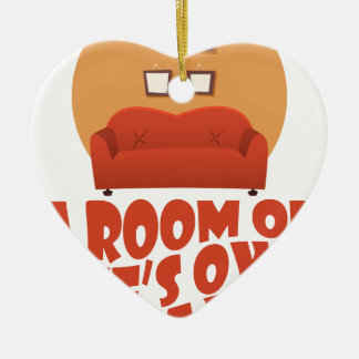 A Room Of One's Own Day - Appreciation Day Ceramic Heart Decoration