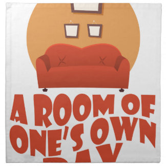 A Room Of One's Own Day - Appreciation Day Napkin