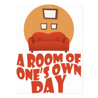 A Room Of One's Own Day - Appreciation Day Postcard