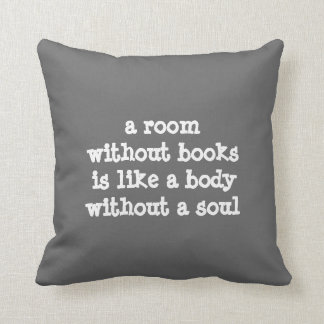 A room without books Cicero quote Cushion