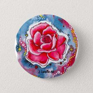 """""""A Rose"""" 6 Cm Round Badge"""