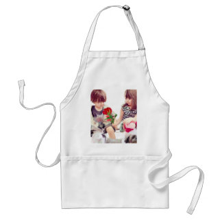 a rose a puppy and a kiss standard apron