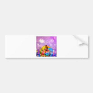 A rose lodges a child in spring bumper sticker