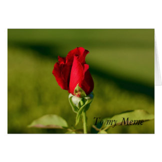 A Rose Meme Card