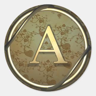 a round sticker
