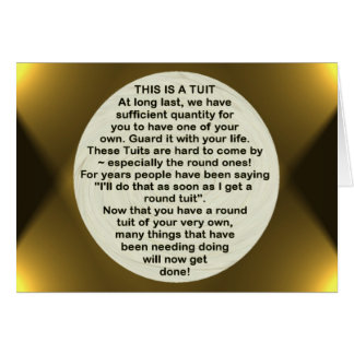 A Round Tuit ~ card