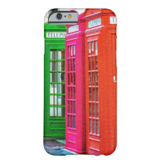 A Row of Brightly Colored Telephone Boxes Barely There iPhone 6 Case