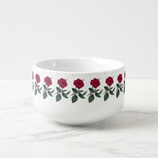 A row of Hibiscus Soup Mug