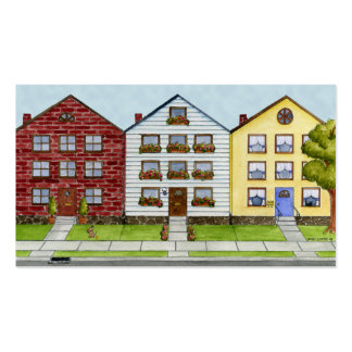 A Row Of Houses Profile Card Business Card Template