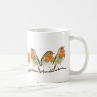 A row of Red Robins Coffee Mug