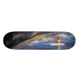 A rower on Banff Lake in the Canada MR) 19.7 Cm Skateboard Deck