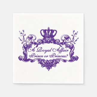 A Royal Affair Gender Reveal Napkins Disposable Serviette
