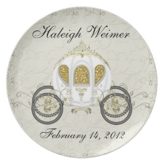 A Royal Event Invitation Party Plate