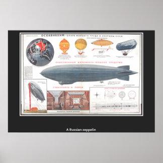 A russian Zeppelin Vintage Print