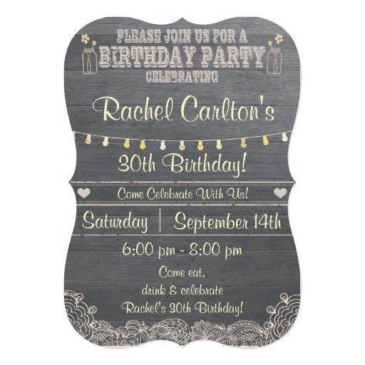 A Rustic Mason Jar Birthday Party Invitation