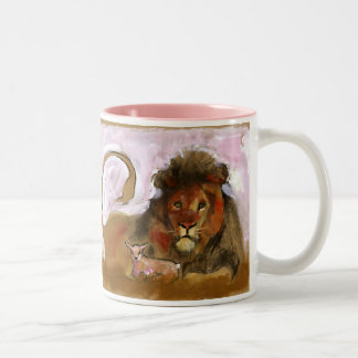 A.S.K. - Lion & Lamb Two-Tone Coffee Mug