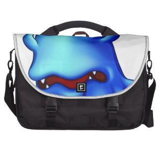 A sad monster because of failure laptop commuter bag