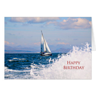 A sailboat birthday card