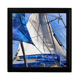 A Sailor Is An Artist And His Medium The Wind Large Square Gift Box