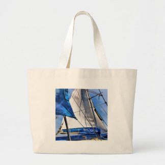 A Sailor Is An Artist And His Medium The Wind Large Tote Bag