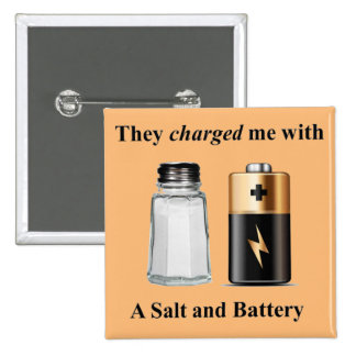 A Salt and Battery Assault and Battery 15 Cm Square Badge