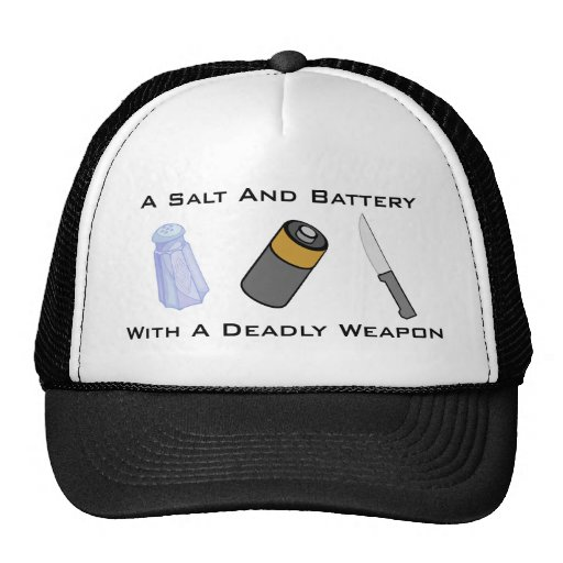 A Salt And Battery With A Deadly Weapon Mesh Hats