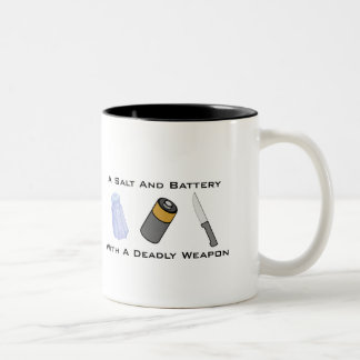 A Salt And Battery With A Deadly Weapon Mug