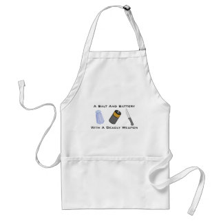 A Salt And Battery With A Deadly Weapon Standard Apron