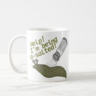 A Salted Slug Pun Coffee Mug