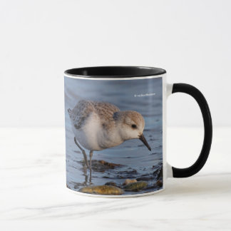 A Sanderling Forages on the Shore Mug