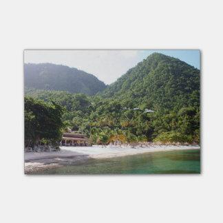 A sandy beach on the island of Saint Lucia Post-it Notes