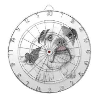 A Sassy Bulldog Puppy Dart Board