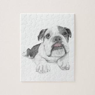 A Sassy Bulldog Puppy Jigsaw Puzzle